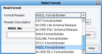WSDL to XML Transformation Data Mapper Import panel