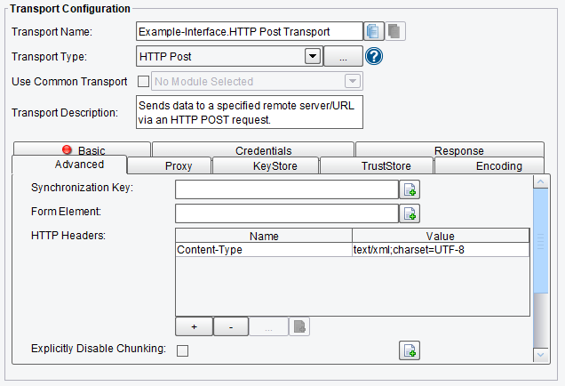 HTTP POST Advanced Configuration Options
